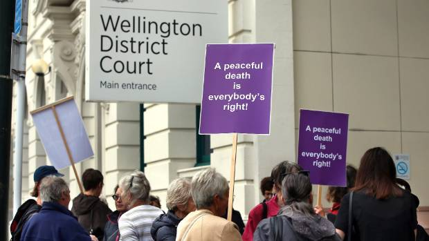 Supporters of Susan Dale Austen gathered for one of her court appearances. (File photo)