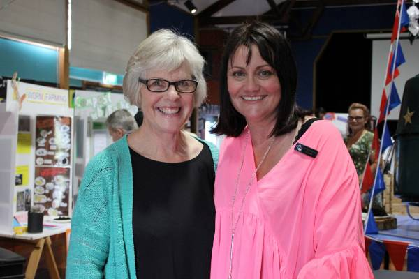 Marlene Lewis, Stratford Primary School's environmental coordinator, and Kerry Nancarrow, Matapu School's Principal, ...