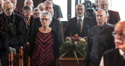 Funeral service for New Zealand folk music legend Phil Garland.