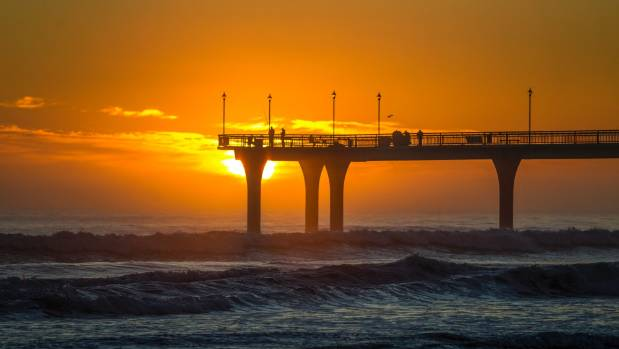 New Brighton pier is a popular spot at sunrise.