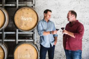 Invivo Wines co-founders Tim Lightbourne, left, and Rob Cameron.