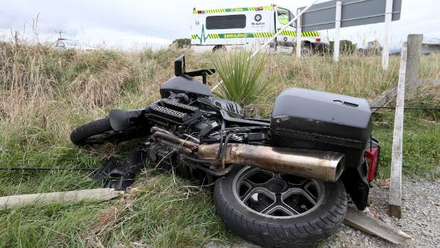 Richard Paul McGarry was taken to Wairau Hospital with serious injuries after crashing his motorcycle off Alabama Rd, ...