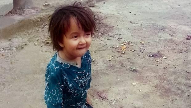 Three-year-old Fatima.