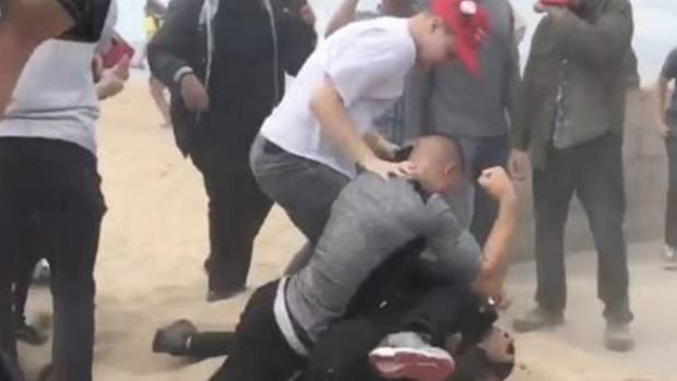 Pro-Trump Rally in Huntington Beach Turns Violent
