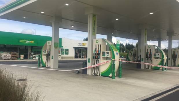 The Horotiu BP has been hit again - in March it was robbed by three armed men.