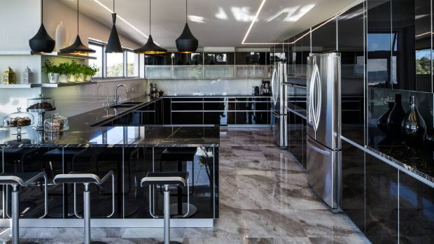 Every Surface Gleams In This New Kitchen In A Contemporary New Plymouth  House At Fitzroy Beach Part 53