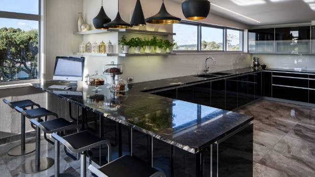 kitchen design new plymouth black in this new plymouth home from the glossy 4518
