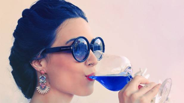 Spanish startup company Gik is believed to have produced the world's first blue wine.