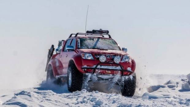 The Arctic truck fleet includes both 4x4 and 6x6 vehicles.