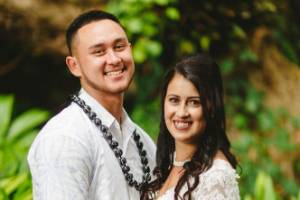 Jessica Elena Davonport-Lee and Troy Lee Fesola'i met through friends.