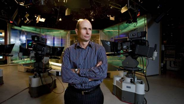 TVNZ content director Jeff Latch in the main studio where 1News is shot. He resigned on Monday ahead of the reshuffle.