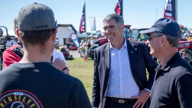 Primary Industries Minister Nathan Guy, pictured centre, says science will help find solutions to the environmental ...
