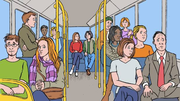 Without Facebook, public transport got awkward.