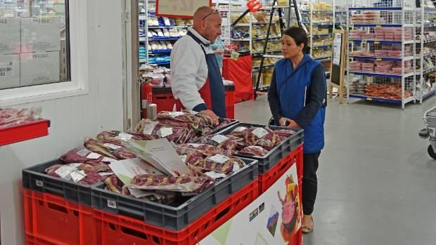 New Zealand Cervena on sale at a supermarket in Antwerp, Belgium.