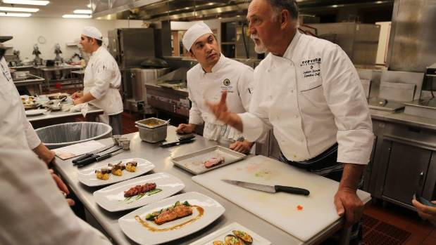 Chef Graham Brown shows United States chefs how to get the best out of New Zealand seafood, lamb and Cervena venison. ...