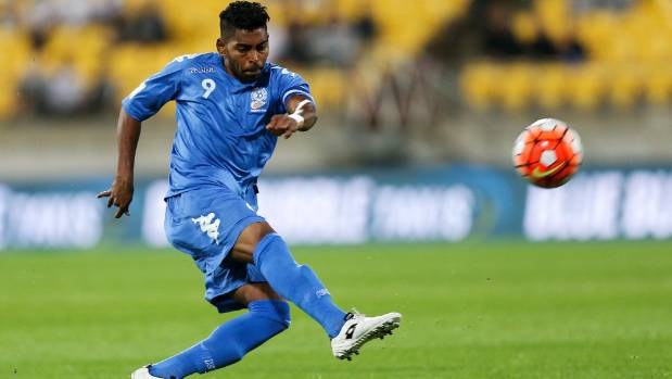 Roy Krishna of Fiji takes a shot on Tuesday.