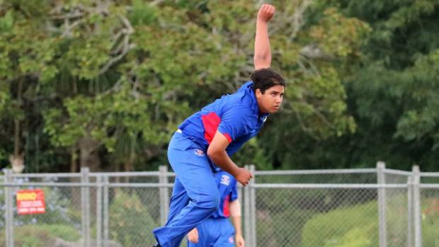 Rosmini College 1st XI bowler Niko Weerakoon claimed two wickets in the final.