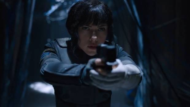 Scarlett Johansson stars in Ghost in the Shell, which wows with its  stunning set design, innovative makeup and costuming