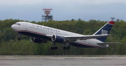 A flight landed at Bangor Airport in 2012 after a plane had to make an emergency landing because a woman said she had a ...
