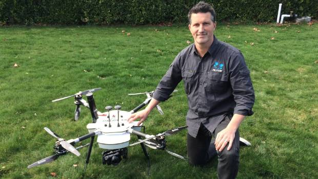 Altus Intelligence chief operating officer Simon Morris with one of the company's drones.