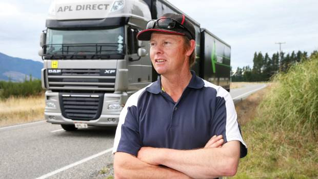 Farmer Evan White says if motorists are not focused they could drive into the back of slow-moving grape harvesters.