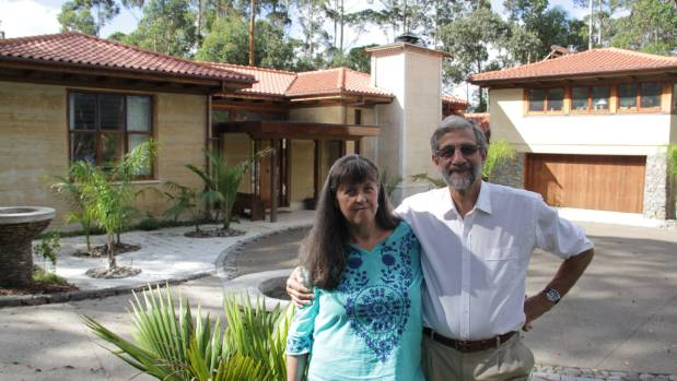 Sue and Julian Pirie are determined their hard work building this house by hand will not be wasted.
