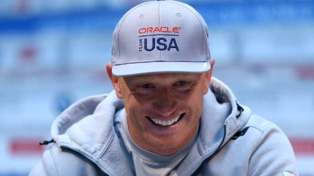 Oracle Team USA skipper Jimmy Spithill could see the funny side to his unexpected dip in the waters off Bermuda.