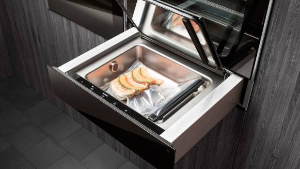 Some advanced ovens like this Asko have a sous vide drawer with the steam oven.