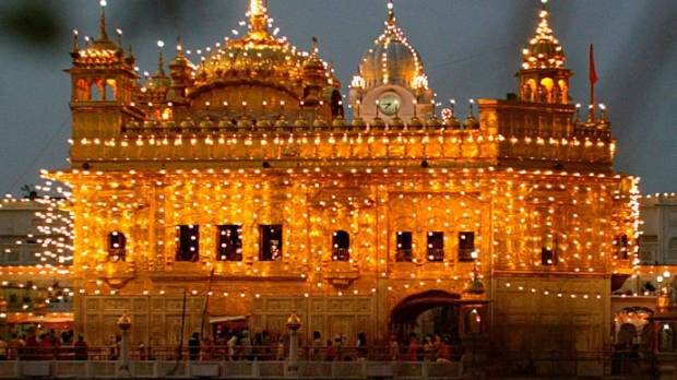 Sikh holy shrine Golden Temple in the northern Indian city of Amritsar.