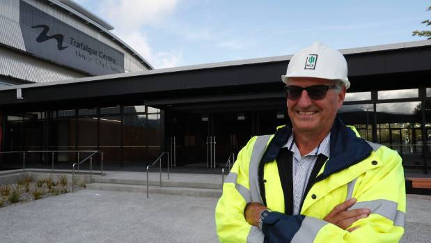 Richard Kirby Nelson City Council Project Manager at the newly refurbished Trafalgar Centre, which will have its ribbon ...