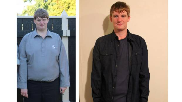 Personal trainer Josh Everson before and after dropping 55kg.