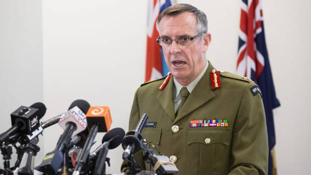 Chief of the Defence Force, Lieutenant General Tim Keating at a media conference to address claims made in the book Hit ...