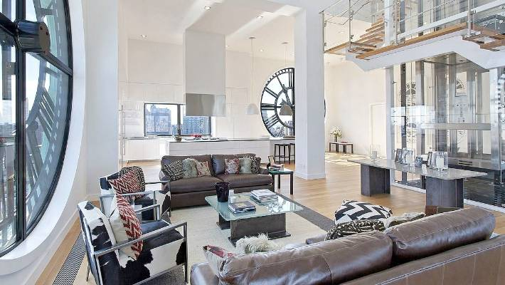 There Are 4 2 Metre Glass Clock Faces On Four Walls Of The Main Living Area