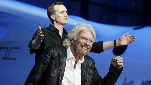 Richard Branson (R) and Virgin Galactic CEO George Whitesides have ambitious plans for the company.