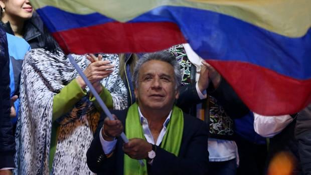 Leftist Moreno heading to dispute win in Ecuador election
