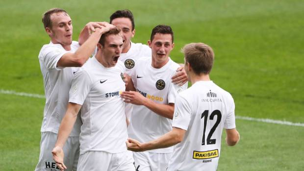 Ben Harris scored both of Team Wellington's goals in the national league final four weeks ago.