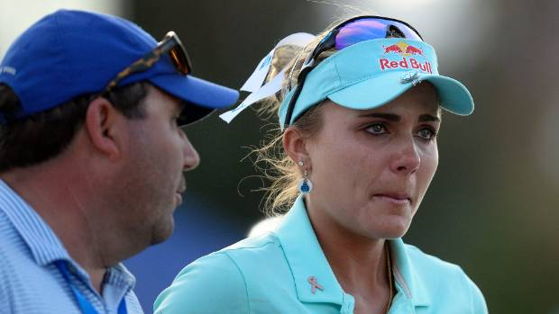 Tearful Thompson loses major play-off after four-shot penalty