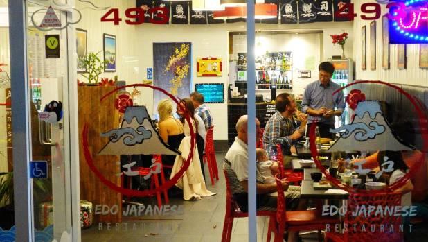 Edo's tiny space creates a boutique atmosphere.