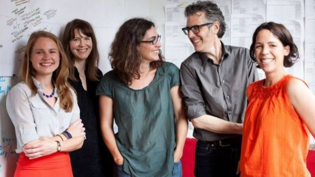 Sarah Koenig, Ira Glass, and the crew behind the groundbreaking Serial podcast.