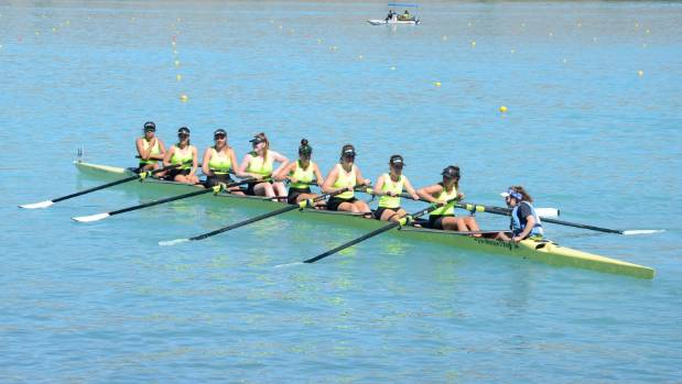 Petone women's winning eight at nationals in Twizel on February 14. From left Tia McDougal, Abbie Pritchard, Poppy ...