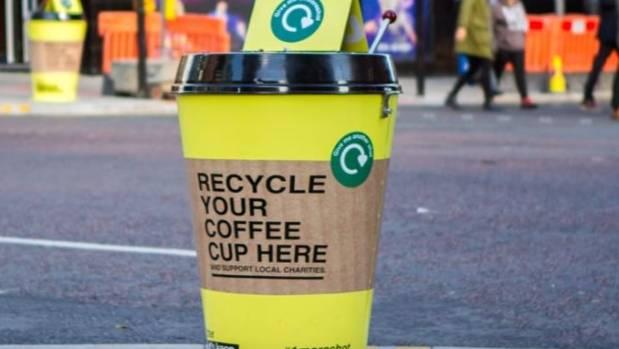 Контейнер для переробки стаканчиків з-під кави