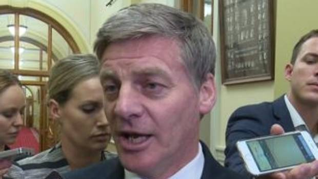 Bill English disagrees with SBW's  logo call.