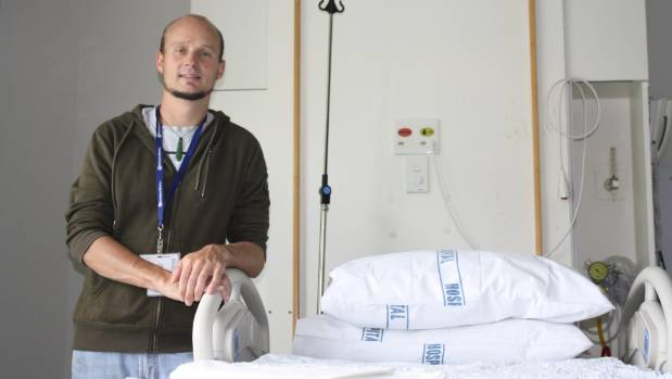 Glen Valentine at Rotorua Hospital's maternity ward. The 31-year-old is one of  seven male midwives registered in New ...