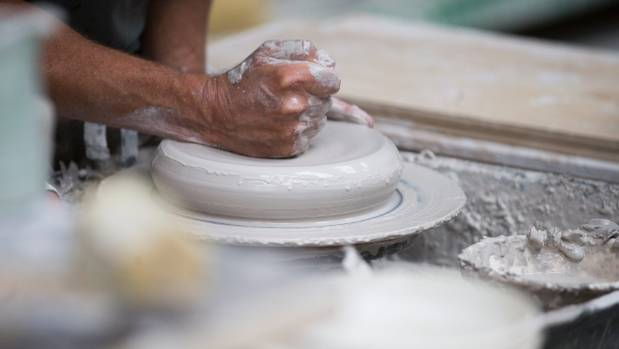 A new piece of pottery is born.