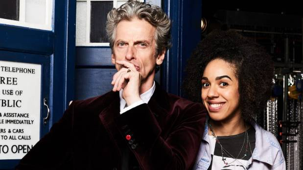 Peter Capaldi with Pearl Mackie who plays new companion Bill.