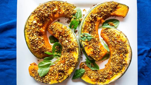 Recipes roasted pumpkin wedges pumpkin parmesan gnocchi and raw spruce up your next dinner party with these roasted pumpkin wedges with pepita dukkah crust and forumfinder Gallery