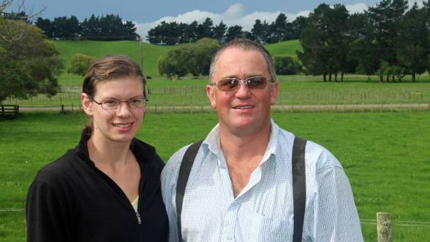 Patrick and Laura Worsnop on their family's Tikokino farm, Kowhai.