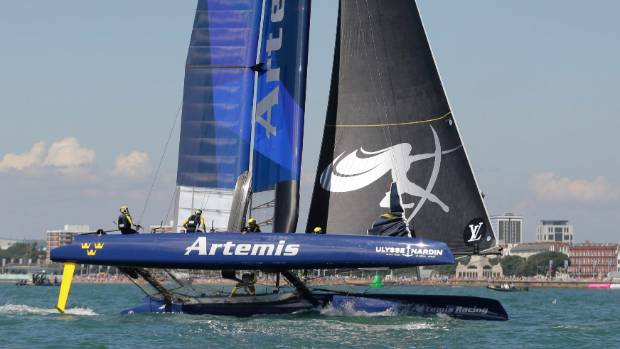 Artemis Racing in action during the America's Cup world series.