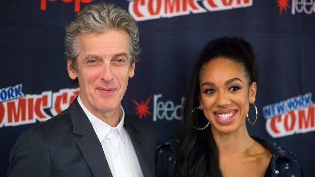 Peter Capaldi and Pearl Mackie at New York Comic Con.