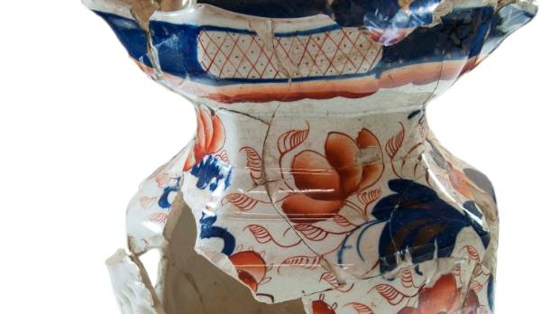 This mason jug was likely brought to Christchurch as a family heirloom.
